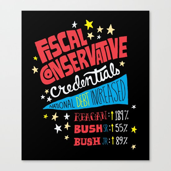 Fiscal Conservative Credentials Canvas Print