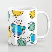 android Mugs featuring Android time by DeLaEmme