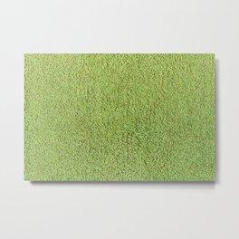 Retro Green Shag Pile Carpet Metal Print