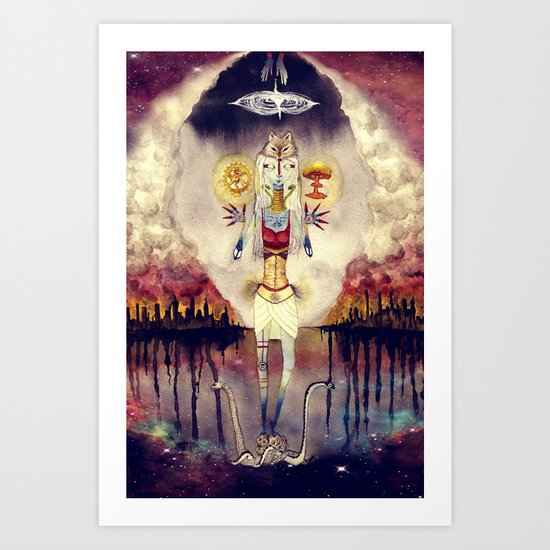 Distant Drums - Apocalypse, End of the World, Chaos Art Print