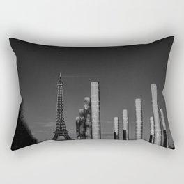 Paris en noir et blanc Tour Eiffel Rectangular Pillow