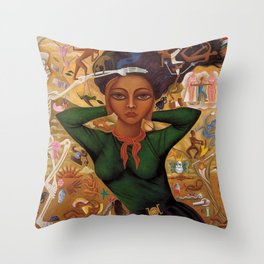 Classical Masterpiece 'Self-Portrait by Rosa Rolanda Throw Pillow
