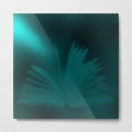 in mint,open book on a festive metal background Metal Print