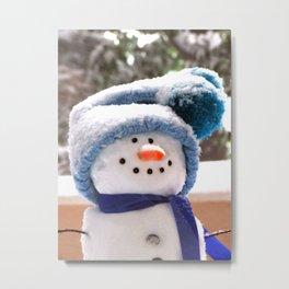 Snow Cute Handmade Snowman Metal Print