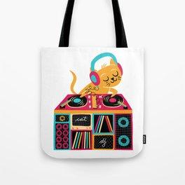 Cat DJ Tote Bag
