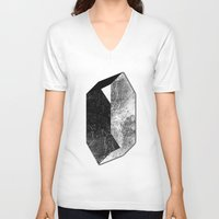 mineral V-neck T-shirts featuring Moon Mineral by Mood/Wood