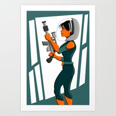 Spacewoman Art Print