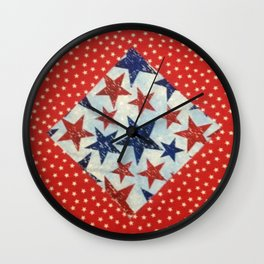 Susie's Quilt Wall Clock