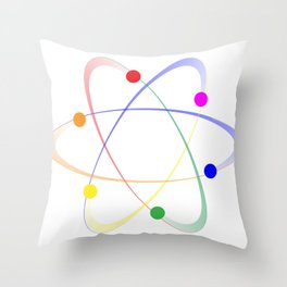 LGBT Whirling Atoms Throw Pillow