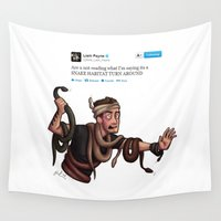 liam payne Wall Tapestries featuring Snakes on a Payne by pygmy