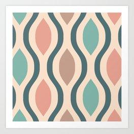 Pretty Ogee Pattern 365 Art Print