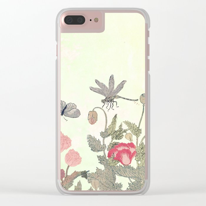 Butterfly and flowers -The Still Point Clear iPhone Case