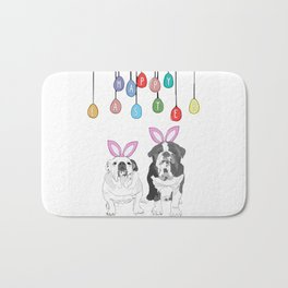 Happy Easter - Bulldog Bunnies Bath Mat
