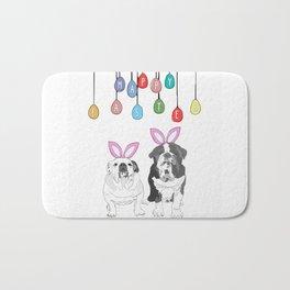 Happy Easter - Bulldog Bunnies Bath Mat