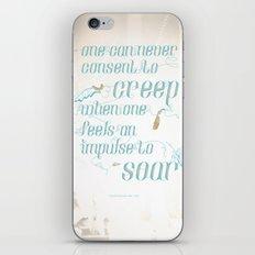 Soar - Illustrated quote of Helen Keller v3 iPhone & iPod Skin
