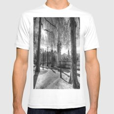 Canada Gate Green Park London Mens Fitted Tee MEDIUM White