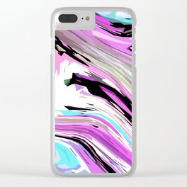Marbled Lilac Clear iPhone Case