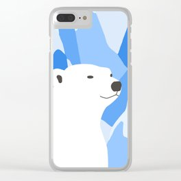 Polar Bear In The Cold Design Clear iPhone Case