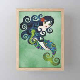 Aquamarine Mermaid Framed Mini Art Print