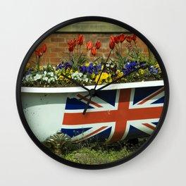 Flower Bath Wall Clock