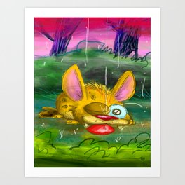 Come in from the rain Art Print