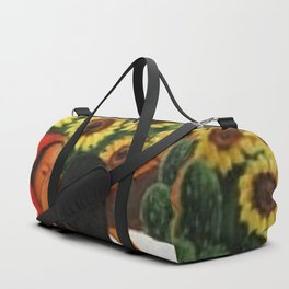 Classical Masterpiece Sunflowers 'Chismosas' by Diego Rivera Duffle Bag