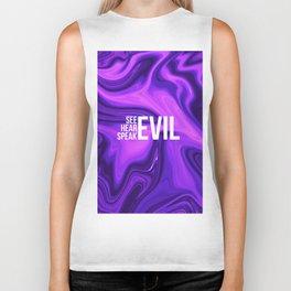 """ABSTRACT LIQUIDS XXIV """"24"""" - see evil hear evil speak evil Biker Tank"""