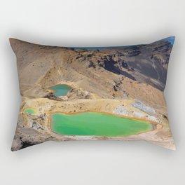 Mount Tongariro, New Zealand Travel Artwork Rectangular Pillow