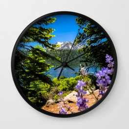 Flowers Filling the Foreground Wall Clock