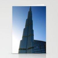 wiz khalifa Stationery Cards featuring Dubai - Burj Al Khalifa by gdesai