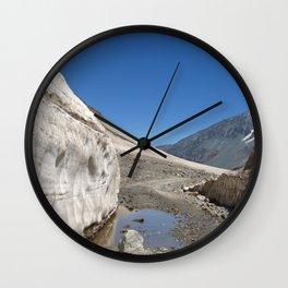 Snow Bank Lahaul Valley Wall Clock