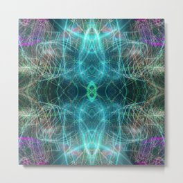 Abstract Light-trails Mandala 777 Metal Print