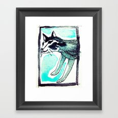 SAKE. Framed Art Print