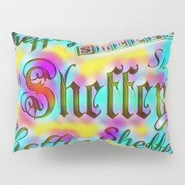 Sheffey Fonts - Yellow and Pink Rainbow 9642 Pillow Sham