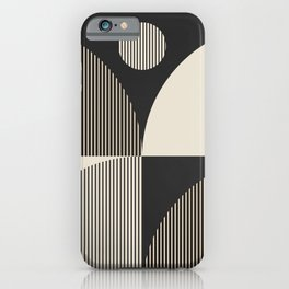 Abstraction_SUN_BOHEMIAN_BLACK_LINE_POP_ART_M100A iPhone Case