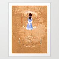 belle Art Prints featuring Belle by Camilla Kipp