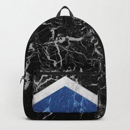 Arrows - Black Granite, White Marble & Blue Granite #227 Backpack
