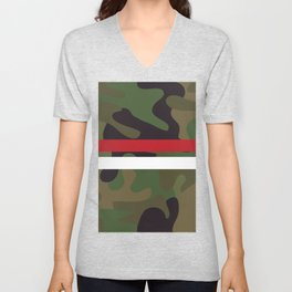 Pattern Army Camouflage Unisex V-Neck
