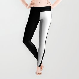 Letter J (White & Black) Leggings