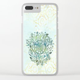 Time To Read - Watercolor Green Clear iPhone Case