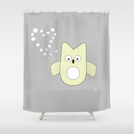 frenchie owl Shower Curtain