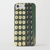 numbers iPhone & iPod Cases featuring Numbers by Hazel Bellhop