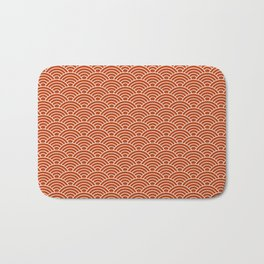 Orange Fish Scales Bath Mat
