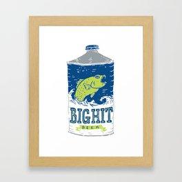 Big Hit Beer Framed Art Print