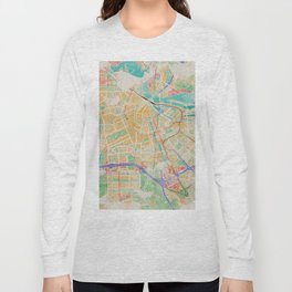 Amsterdam in Watercolor Long Sleeve T-shirt