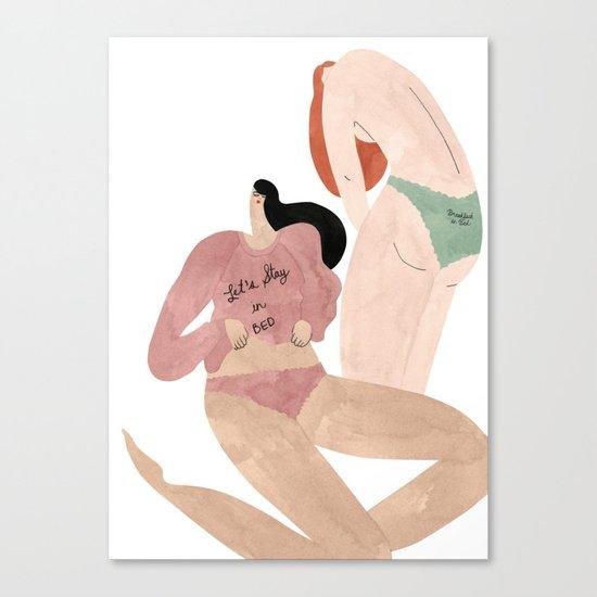 Love Stories Intimates Canvas Print