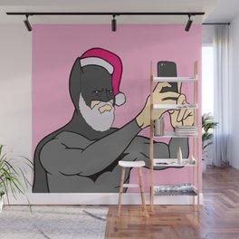 Bat Santa Christmas Wall Mural