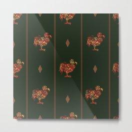 dodo pattern dark Metal Print