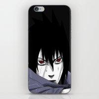 sasuke iPhone & iPod Skins featuring Sasuke Uchiha  by Iotara