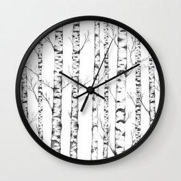 White Nature Wall Clock